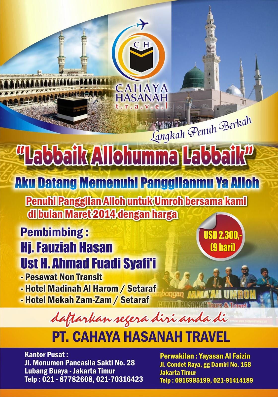Desain Brosur Umrah Haji