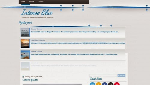 intense blue education blogger template 2014 for blogger