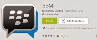 Cara Atasi Android yang Tidak Kompatibel dengan versi BBM di Play Store