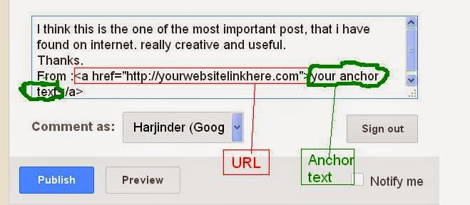Back Link with Comment Posting backlink