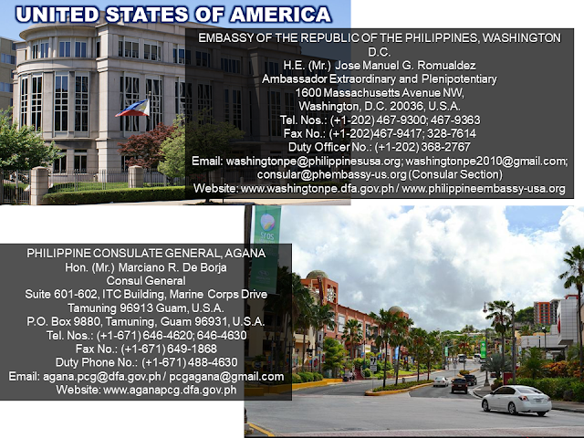 The Embassy is a piece of our country in a foreign territory where every Filipinos feel safe and secured. No matter where you are in the world, may you be an immigrant or an overseas Filipino worker (OFW) you need to know the locations of our embassies and consulates.  Information is power and here we are providing you all that you need to know the whereabouts of the Philippine embassies around the world and how to get in touch with them.  Advertisement         Sponsored Links                  EMBASSY OF THE REPUBLIC OF THE PHILIPPINES, BUENOS AIRES   Hon. (Ms.) Lolita B. Capco   Chargé d' Affaires, a.i.   Zapiola 1701, C1426AUI   Buenos Aires, Argentina   Tel. Nos.: (+54-11) 4554-4015; 4554-4856   Fax No.: (+54-11) 4554-9194   Duty Officer No.: (+549-11) 6700-2333   Consular Mobile Hotline No.: (+549-11) 6700-5111   Email: buenosaires.pe@dfa.gov.ph / pheba@fibertel.com.ar   Website: http://buenosairespe.dfa.gov.ph   Facebook: @PHinArgentina      EMBASSY OF THE REPUBLIC OF THE PHILIPPINES, CANBERRA   H.E. (Ms.) Minda Calaguian-Cruz   Ambassador Extraordinary and Plenipotentiary   1 Moonah Place, Yarralumla, Canberra, A.C.T. 2600   P.O. Box 3297, Manuka, A.C.T. 2603   Tel. Nos.: (+61-2) 6273-2535; 6273-2536   Fax No.: (+61-2) 6273-3984   Duty Officer No.: (+61) 4087-35383   Email: canberra.pe@dfa.gov.ph / canberra.pe@philembassy.org.au   Website: www.canberrape.dfa.gov.ph / www.philembassy.org.au     PHILIPPINE CONSULATE GENERAL, SYDNEY Hon. (Ms.) Melanie Rita B. Diano  Acting Head of Post  Philippine Centre, Level 1  27-33 Wentworth Avenue, Sydney NSW 2000  Tel. No.: (+61-2) 9262-7377  Fax No.: (+61-2) 9262-7355  Emergency No.: (+61) 415-426400  Email: sydney.pcg@dfa.gov.ph / communications@philippineconsulate.com.au  Website: www.sydneypcg.dfa.gov.ph / www.philippineconsulate.com.au    EMBASSY OF THE REPUBLIC OF THE PHILIPPINES, VIENNA  H.E. (Ms.) Maria Cleofe R. Natividad  Ambassador Extraordinary and Plenipotentiary  20th and 21st Floor, ARES Tower  Donau-City-St