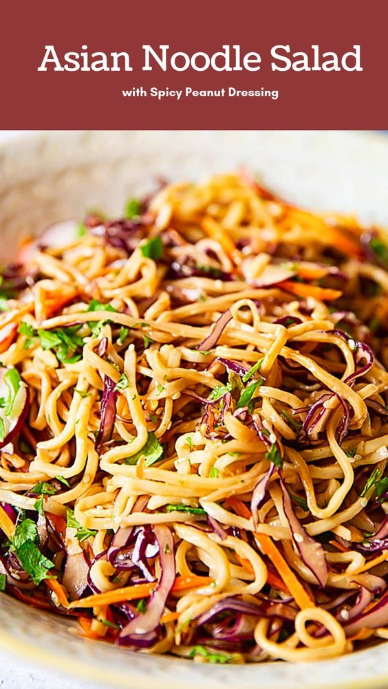 Asian Noodle Salad In Peanut Dressing