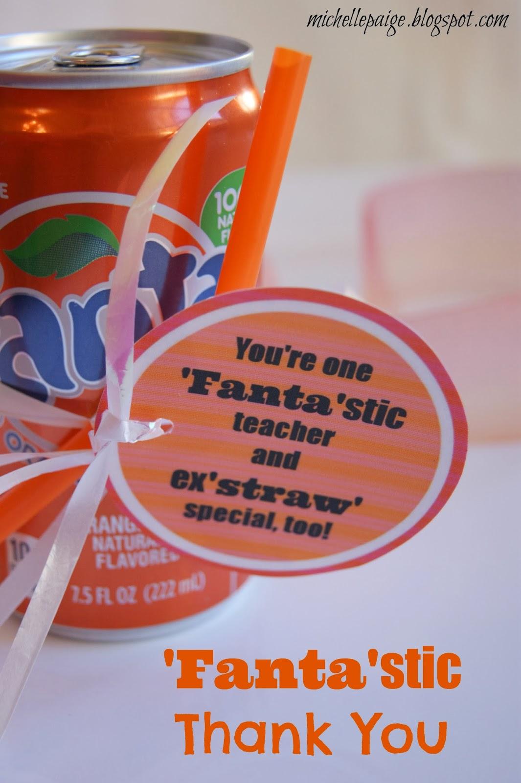 Michelle Paige Blogs Fanta Stic Coach And Teacher Gift