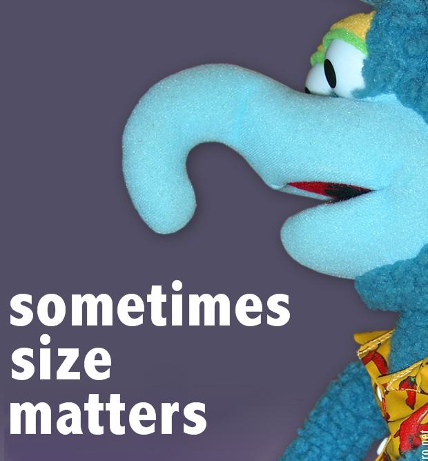 For The World To See: Does Size Matter
