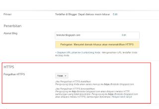 Cara Mengaktifkan Fitur Protokol HTTPS Di Blogger