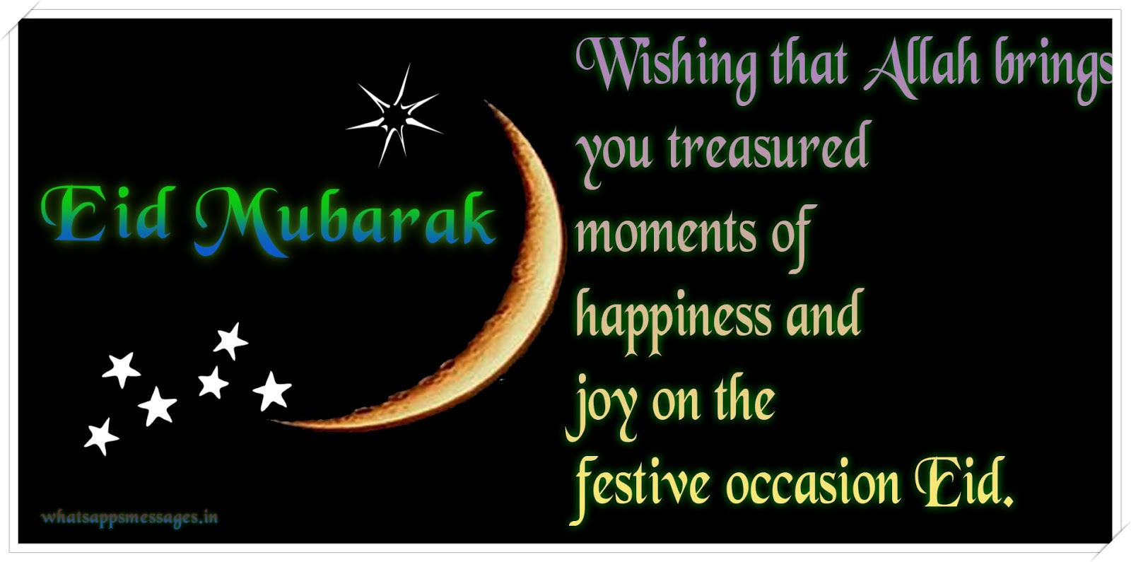 Happy Eid Mubarak Smsmessageswishesshayari Whatsapp Messages
