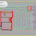 مخطط تهيئة مركز تجاري بشكل مميز اوتوكاد dwg