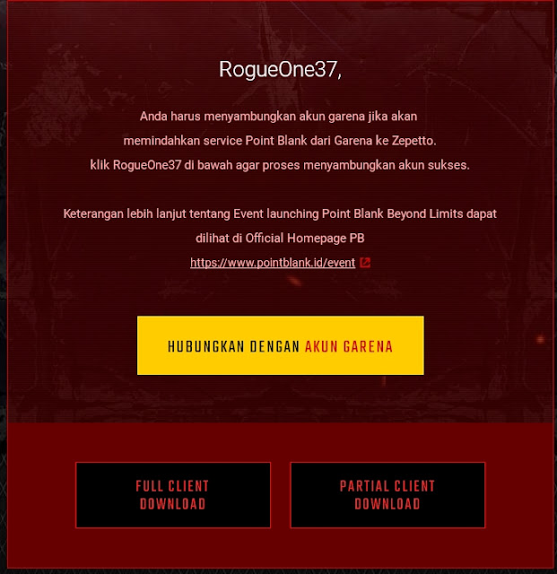 Cara Transfer Akun Point Blank Garena Ke Zepetto