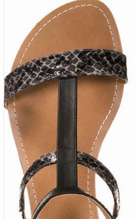 Detalle de las sandalias