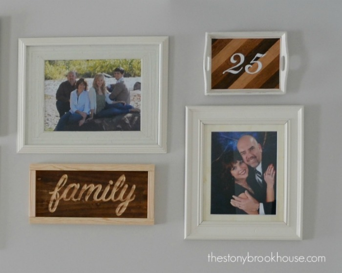 Gallery Wall Wood Accents