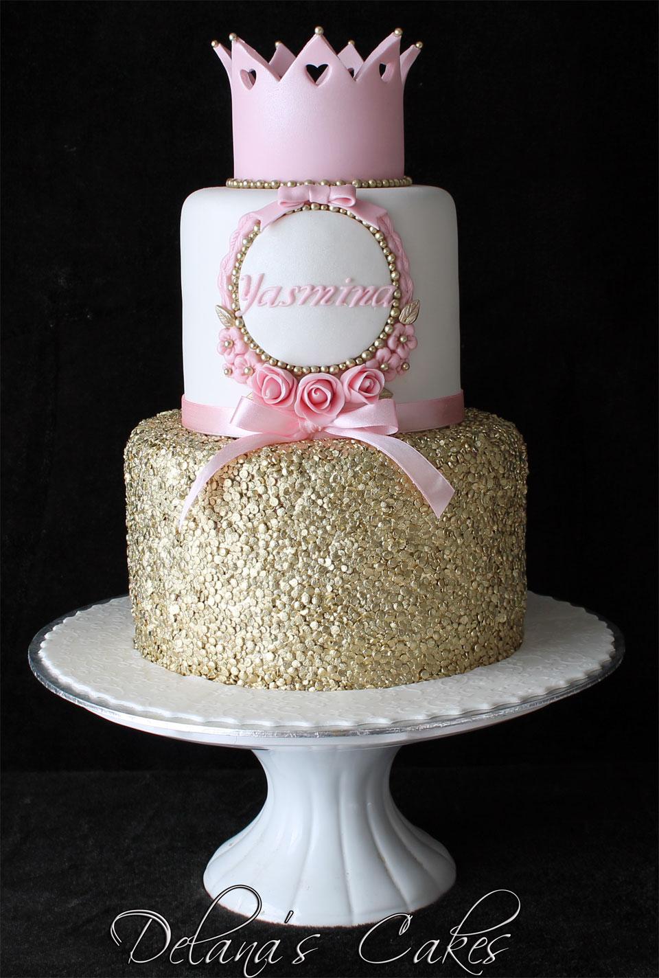 Delana S Cakes Gold Sequence Princess Cake