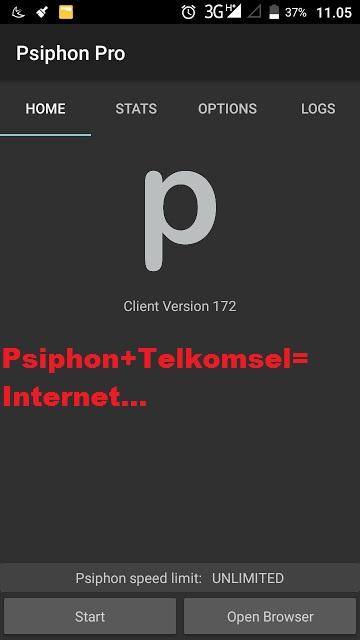 Cara Setting Psiphon Pro Telkomsel