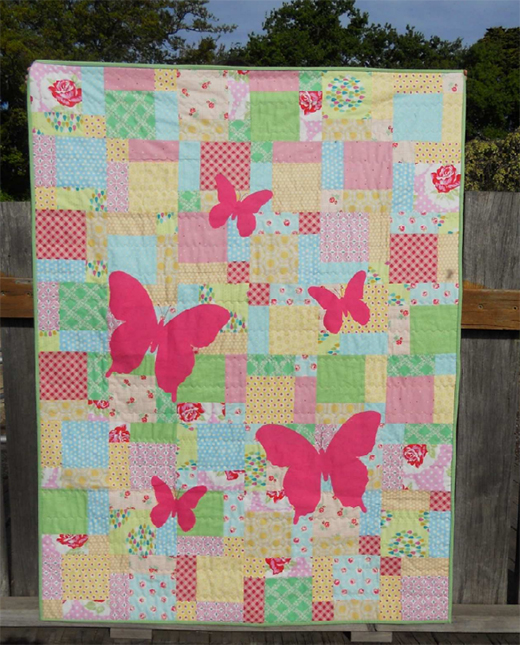 Butterfly Silhouette Quilt Free Pattern