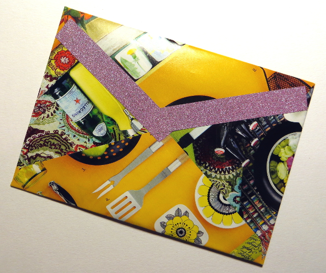 Yellow handmade envelope
