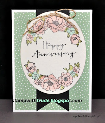 Timeless Love, Anniversary card, Stampin' Up!, Stamp with Trude, floral, watercolor technique, Tuesday Tutorial