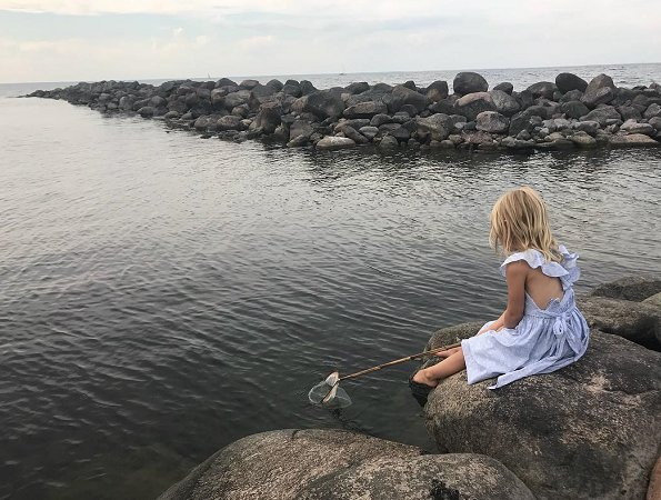 "Princess Madeleine shared a new photo of Princess Leonore with the title ""Patiently waiting..."" on her Instagram page"