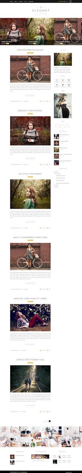 Elegant - Clean & Responsive Blogger Template