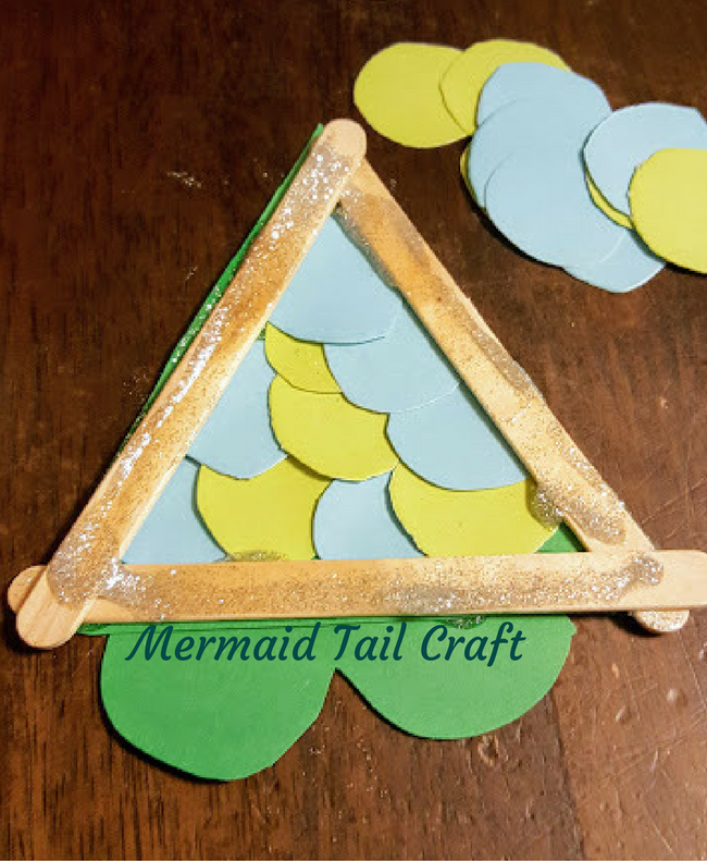 how to make a mermaid tail out of paper