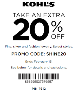 Kohls coupon Extra 20% OFF Fine & Silver Jewelry