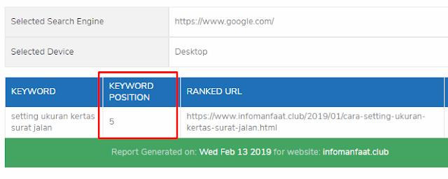 cara cek posisi ranking blog di google