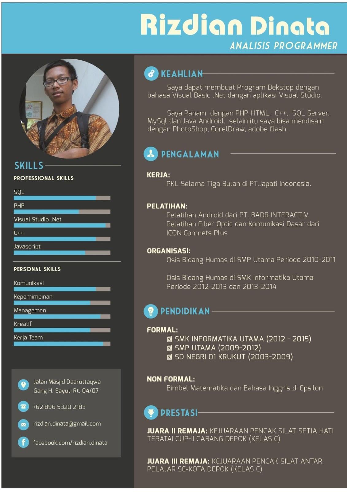 Contoh Cv Yang Menarik Doc Best Resume Examples
