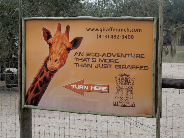 Giraffe Ranch sign