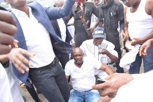 Governor Fayose collapses, rushed to clinic after policemen allegedly fired teargas into Government House (photos)