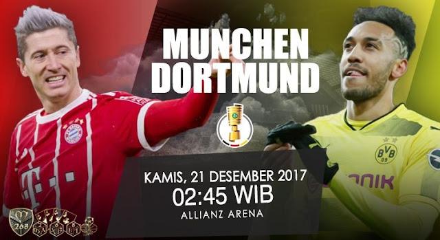 Prediksi Bola : Bayern Munchen Vs Borussia Dortmund , Kamis 21 Desember 2017 Pukul 02.45 WIB