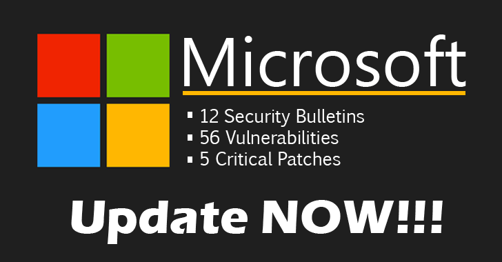 Microsoft Releases 12 Security Updates (5 Critical and 7 Important Patches)