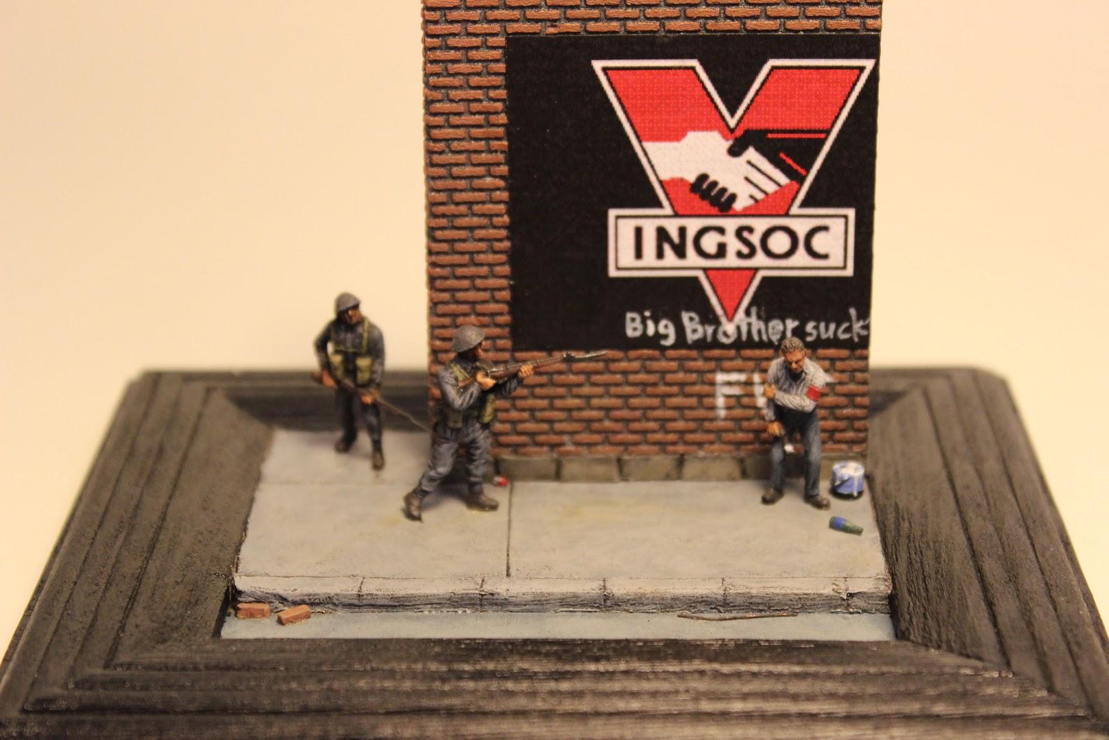 militaryminis my latest diorama a homage to orwell s 1984 my latest diorama a homage to orwell s 1984