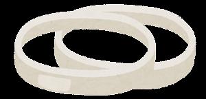 ハンバーガーの具材のイラスト(オニオン)