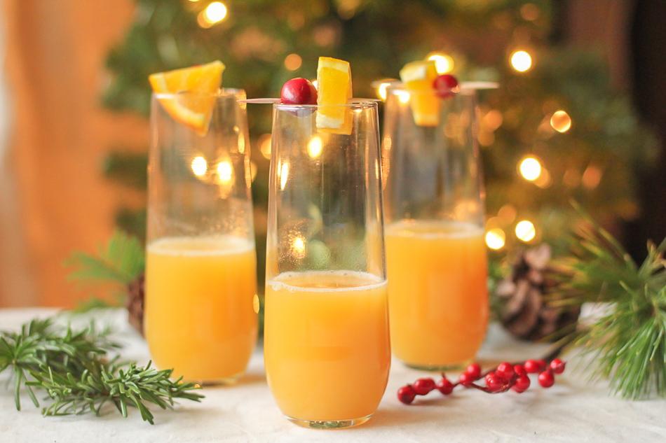 Christmas Cardamom Mimosas