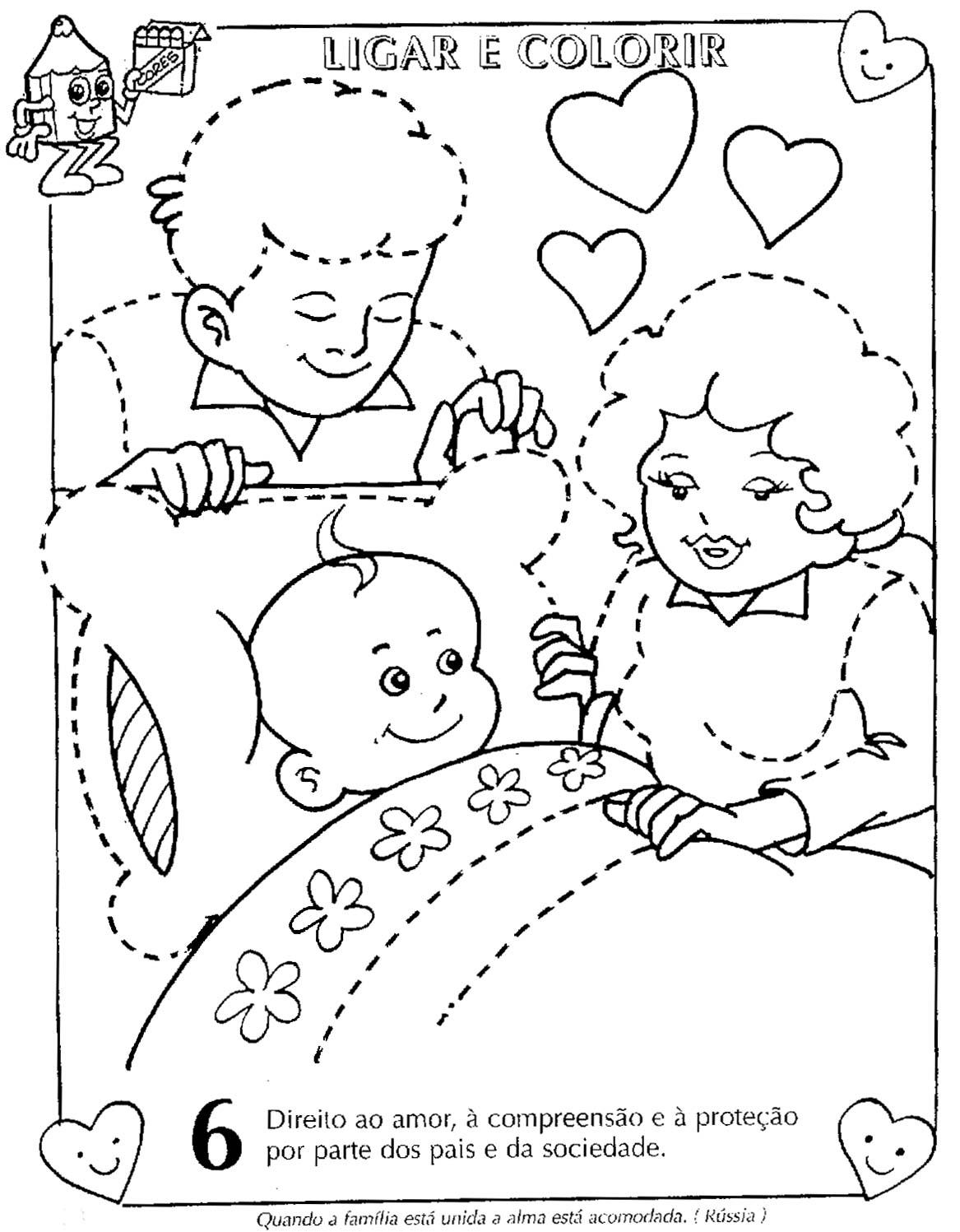 Estatuto Da Criança E Do Adolescente Ilustrado Para Colorir