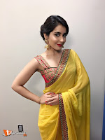 Raashi Khanna in Yellow Saree-cover-photo