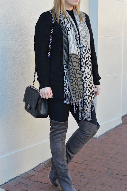 animal-print-scarf-outfit-idea