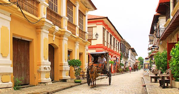 Vigan City, Ilocos in the Philippines