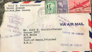 Letter package of the love letter found after 72 years