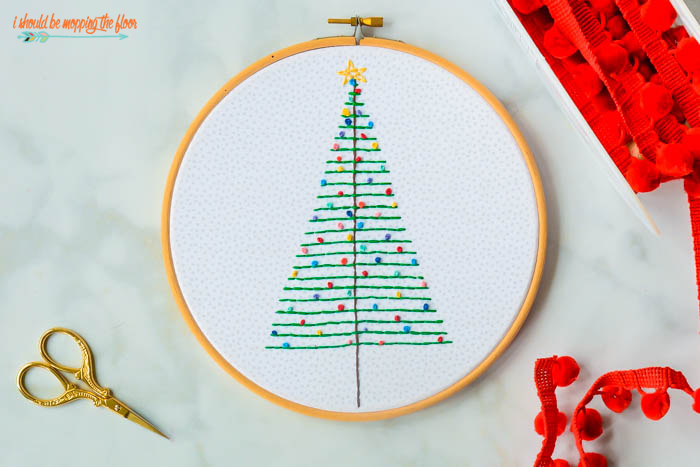 Fun Christmas Hoop Art