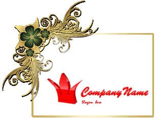 تصميم شعار تاج ملكي أحمر اللون ثنائي الأبعاد مفتوح, red royal crown psd logo design download