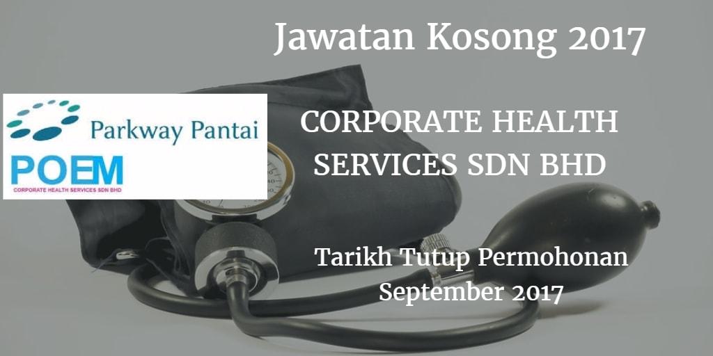 Jawatan Kosong CORPORATE HEALTH SERVICES SDN BHD September 2017