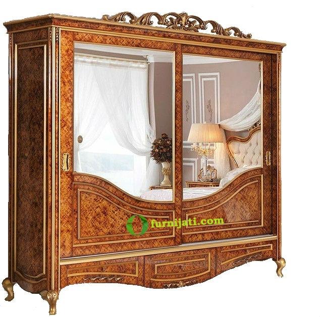 Model lemari kayu jati 2 pintu