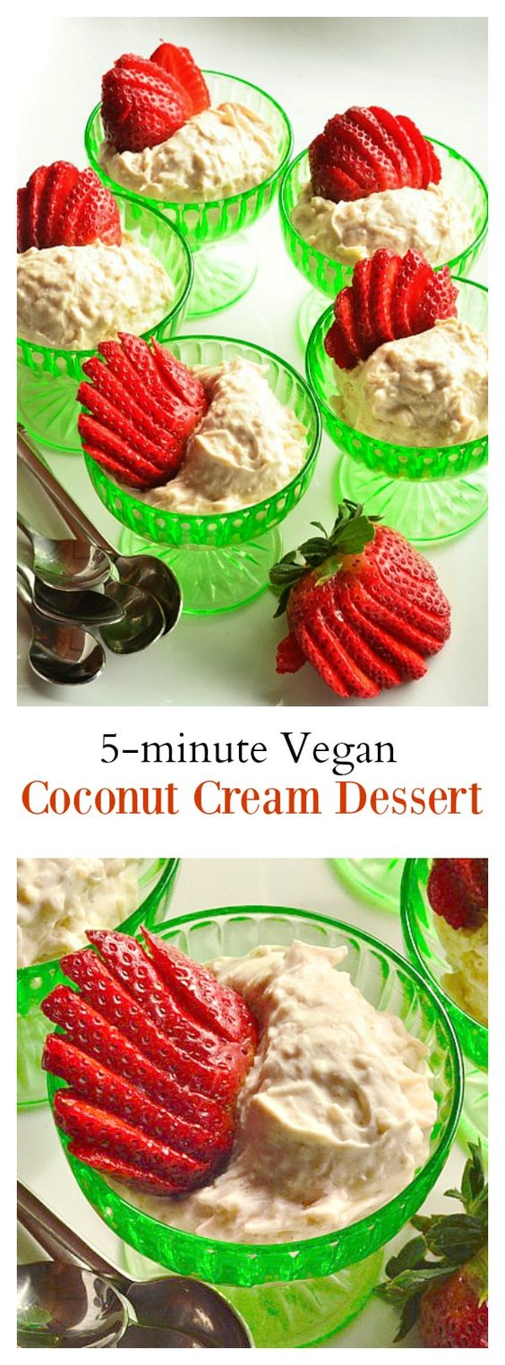 5-Minute Vegan Coconut Cream Dessert
