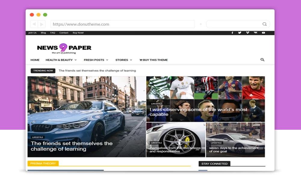 Newspaper 9  Responsive Premium Blogger Template