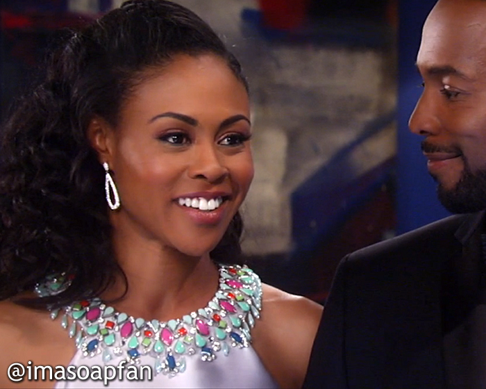 Jordan Ashford, Vinessa Antoine, Embellished Silver Gown, Mignon, Nurses Ball, GH, General Hospital