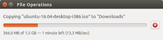 Read speed of 13.3 MB/s