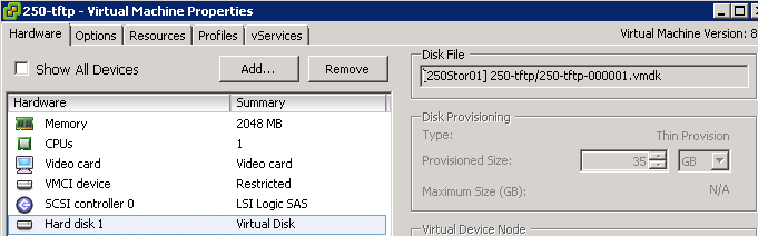 Can't increase the disk size of a vm | Sparrow Technology
