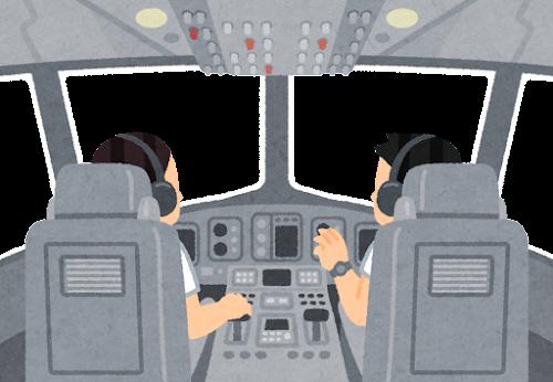 飛行機のコックピットのイラスト(フレーム素材)