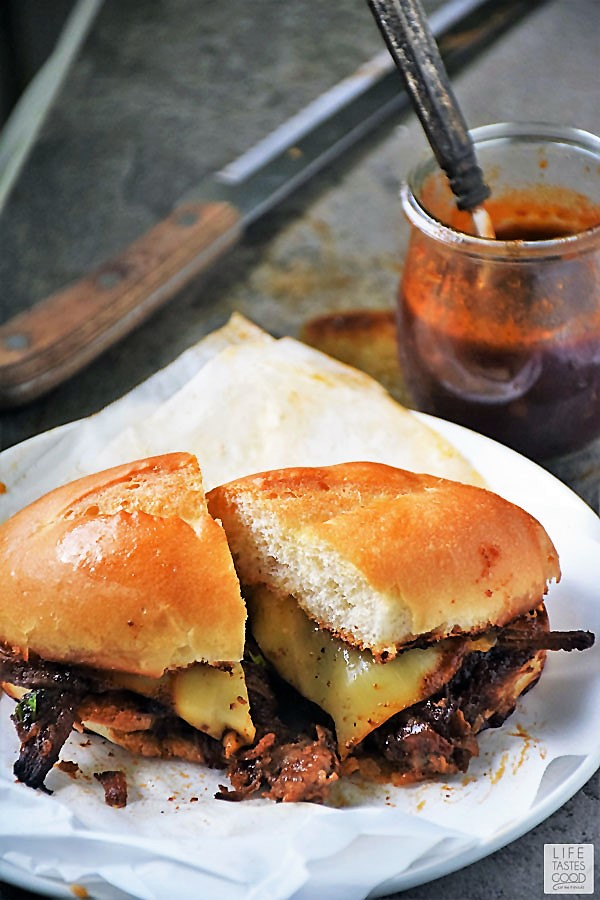 BBQ Brisket Sandwich with homemade BBQ Sauce