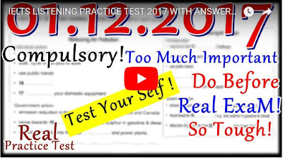 IELTS LISTENING PRACTICE TEST 2017 WITH ANSWERS | 01.12.2017