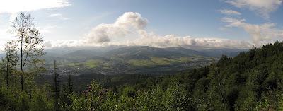 Panorama Beskidu Żywieckiego ze stoków Glinnego.